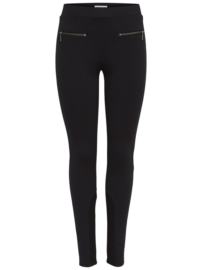 FERMETURE ÉCLAIR LEGGINGS, Black, large