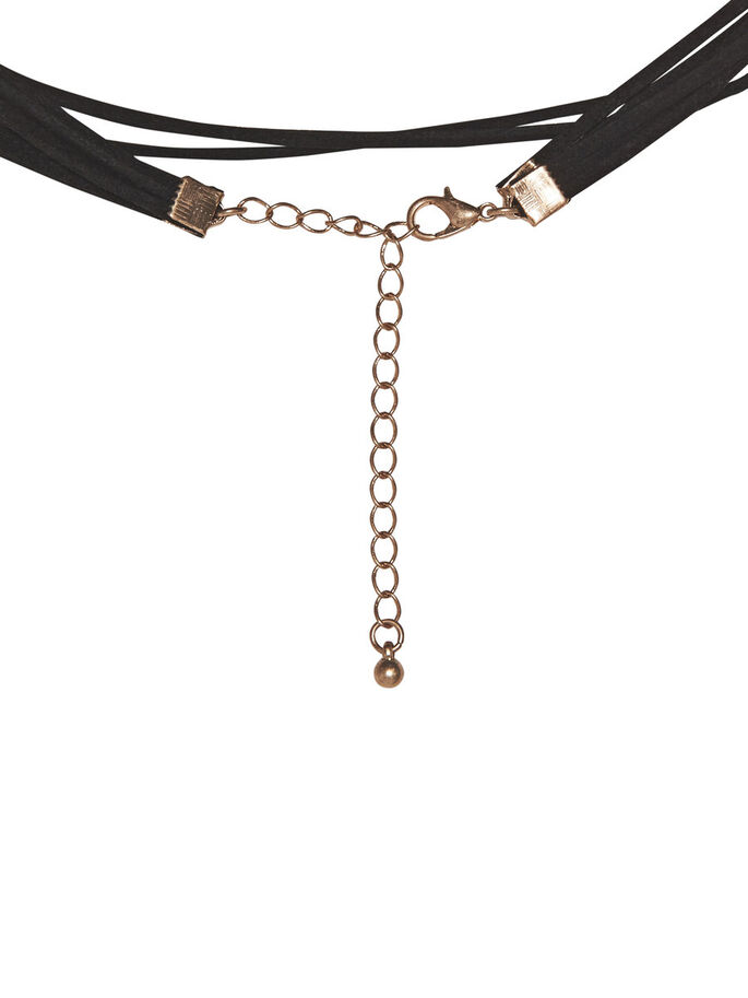 LANGE CHOKER KETTING, Black, large