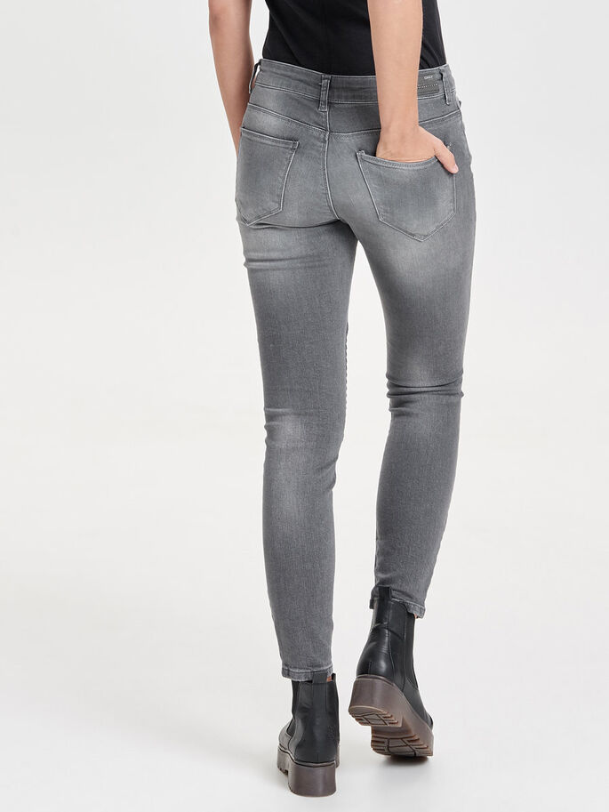 CARMEN REG ESTILO BIKER JEANS SKINNY FIT, Grey Denim, large