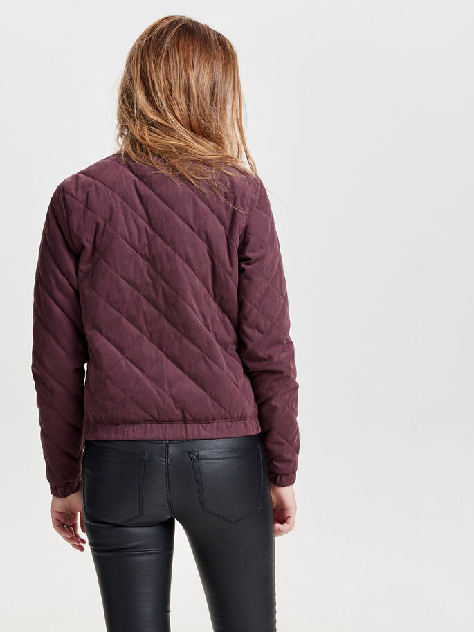 BOMBER QUILTED JACKET, Fudge, large
