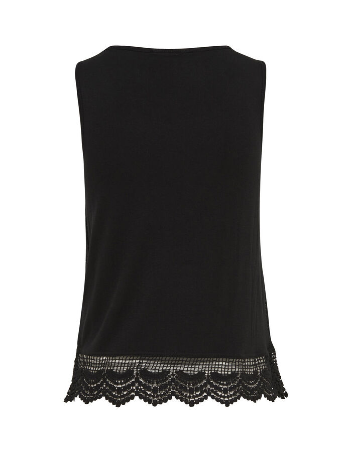 ENCAJE TOP SIN MANGAS, Black, large
