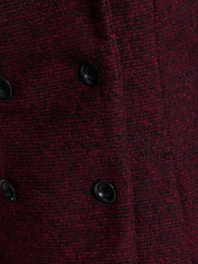 SHORT WOOL COAT, Syrah, large