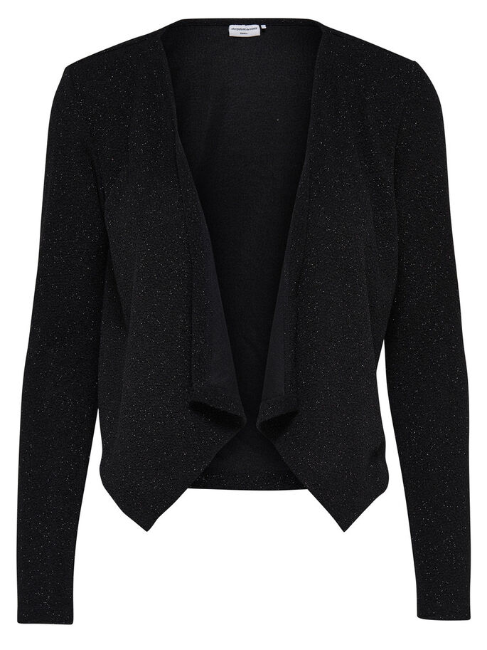 DRAPIERTE STRICKJACKE, Black, large