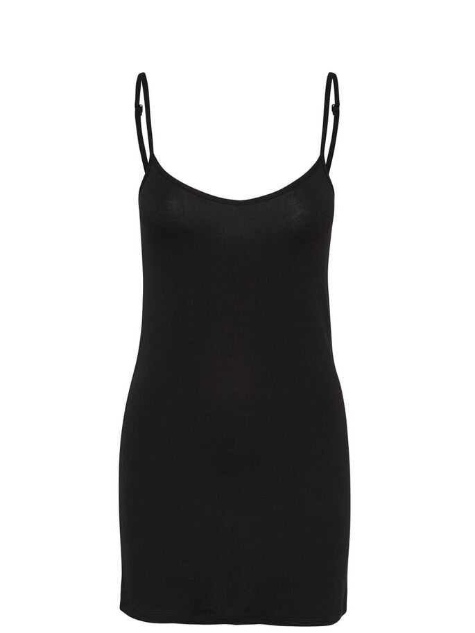 SLEEVELESS SHORT DRESS, Black, large