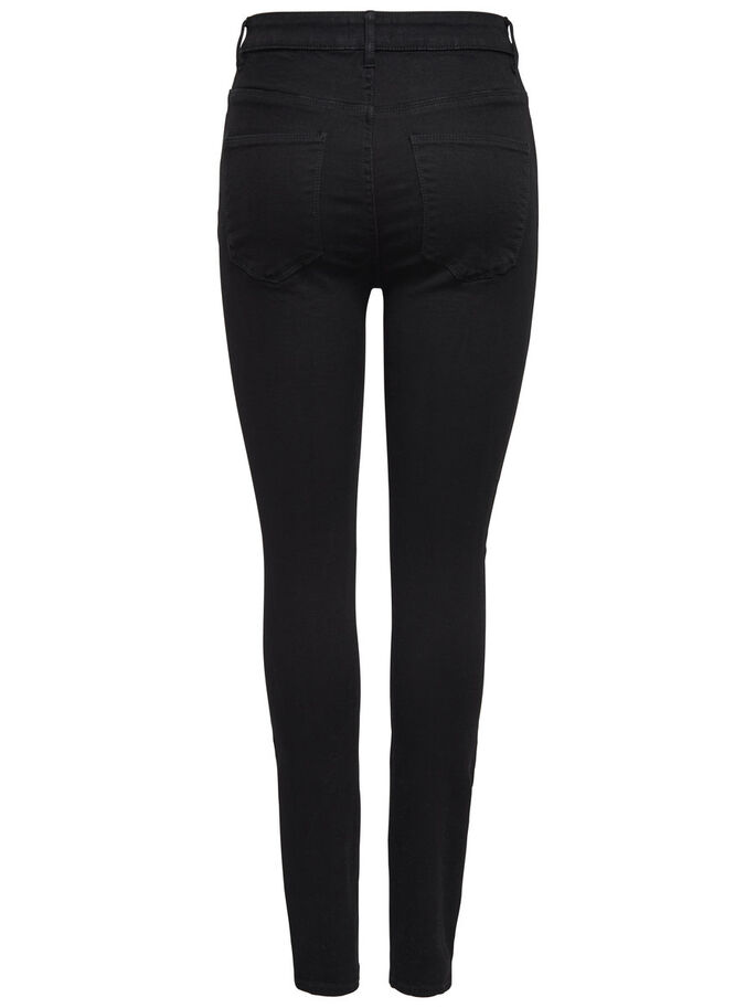 PEARL HIGH WAIST SKINNY FIT JEANS, Black, large