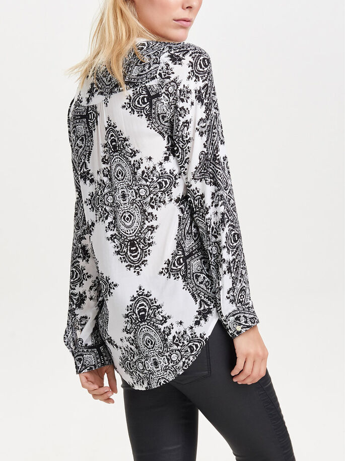 PRINTED TUNIC, Black, large