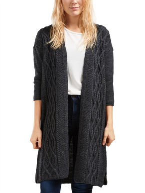 CABLE KNITTED KNITTED CARDIGAN