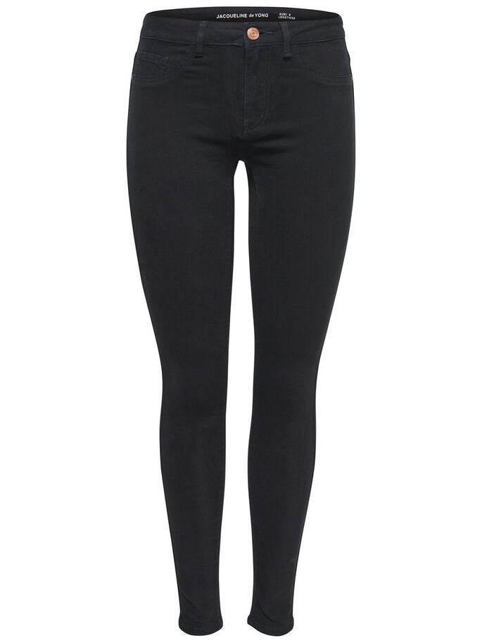 JDY FIVE SKINNY JEANS, Black, large