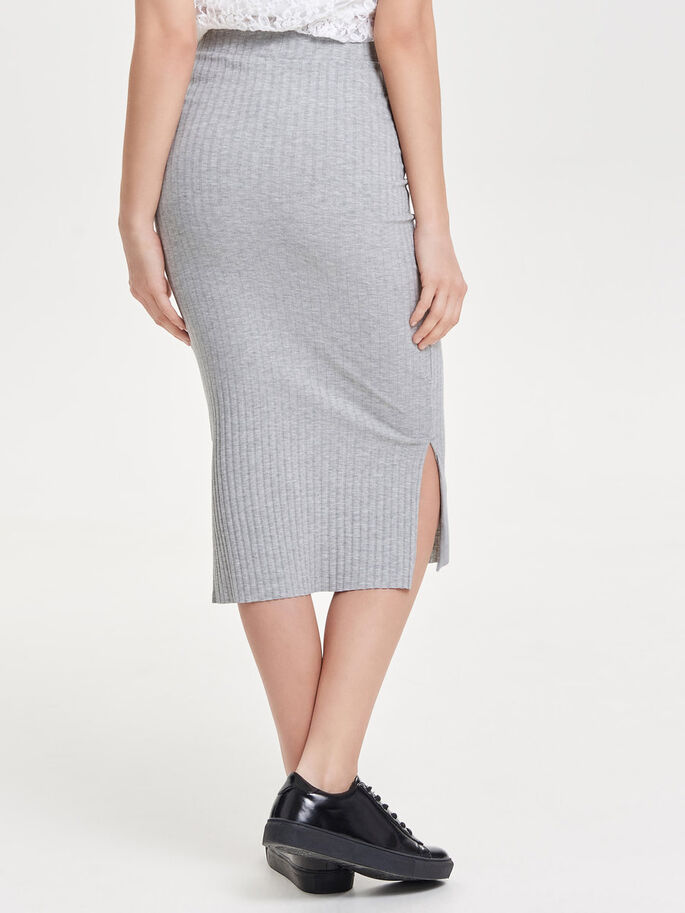 CANALÉ FALDA MIDI, Light Grey Melange, large