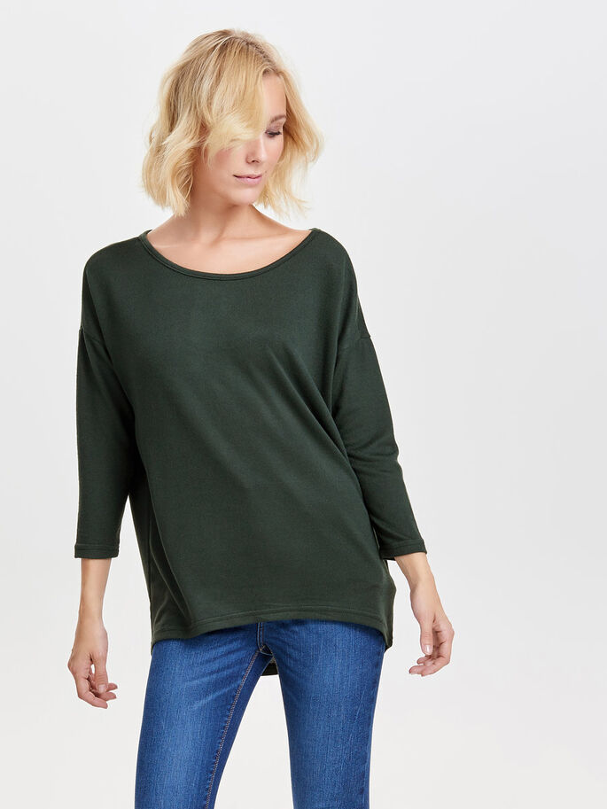 LOOSE LONG SLEEVED TOP, Scarab, large