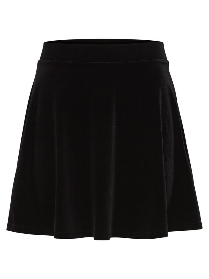 VELOUR SKIRT, Black, large