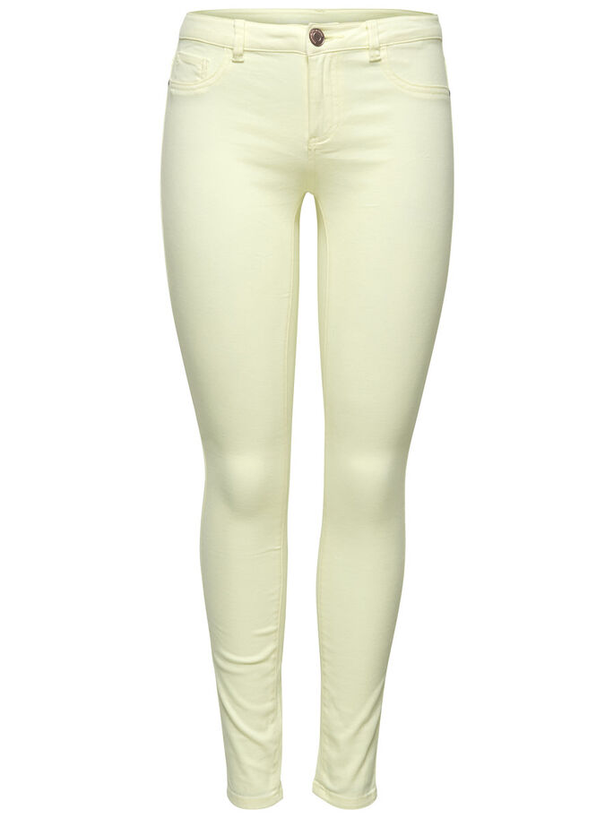 STRETCHY SLIM FIT JEANS, Tender Yellow, large