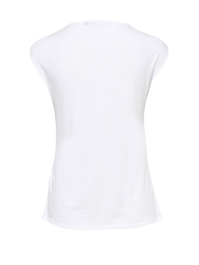 PRINTED SLEEVELESS TOP, White, large