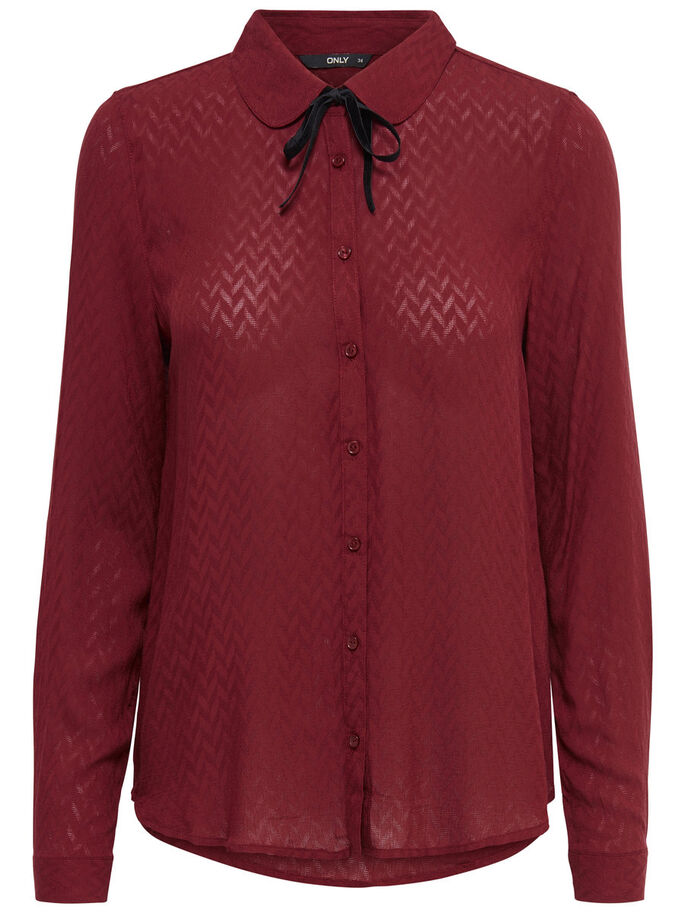 DETAILED LONG SLEEVED SHIRT, Syrah, large