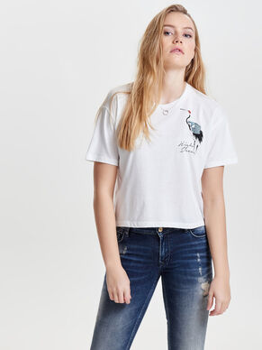 CROPPED SHORT SLEEVED TOP
