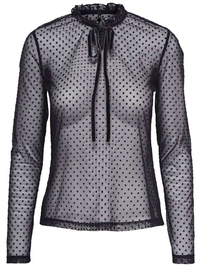MESH LONG SLEEVED TOP, Night Sky, large