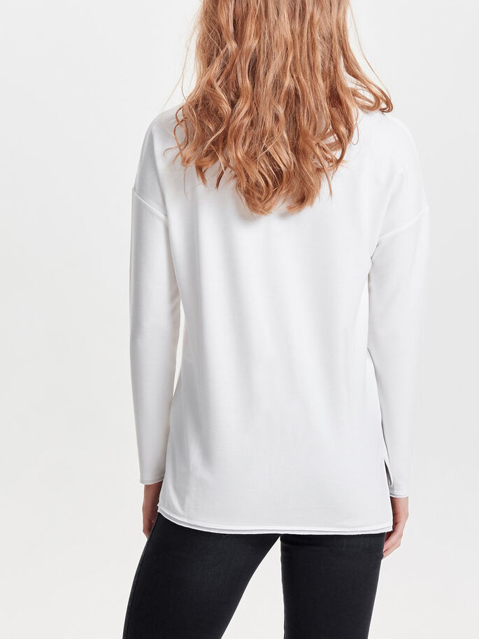 DETALJERAD SWEATSHIRT, Cloud Dancer, large