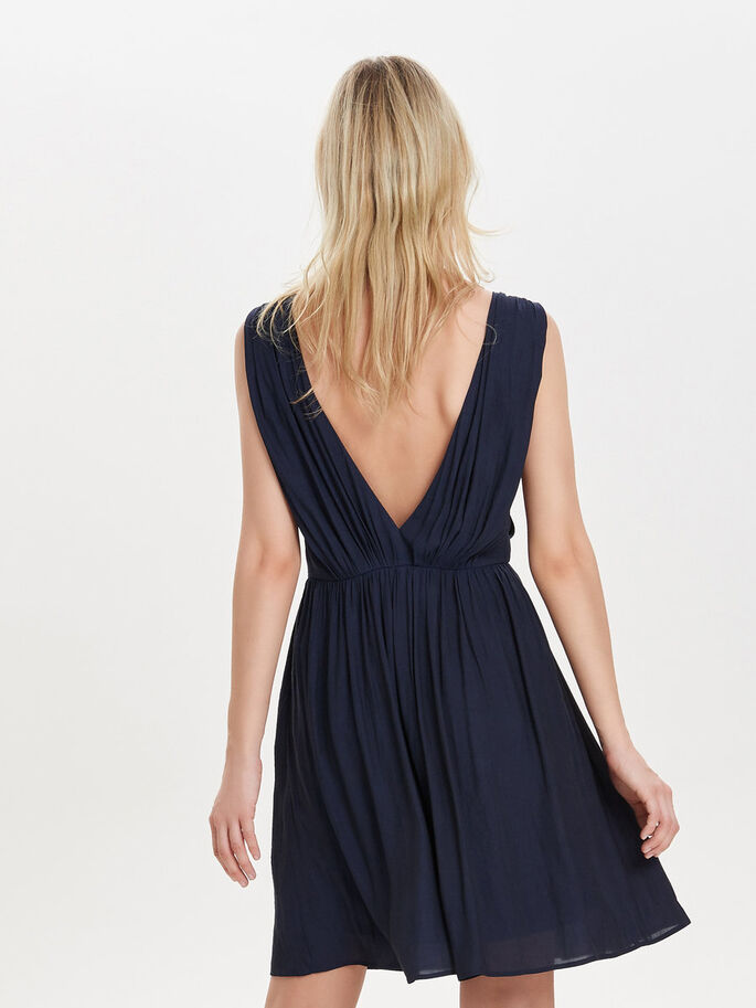 OPEN BACK SLEEVELESS DRESS, Night Sky, large