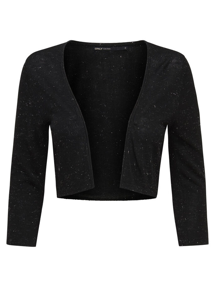 OPEN KNITTED BOLERO, Black, large