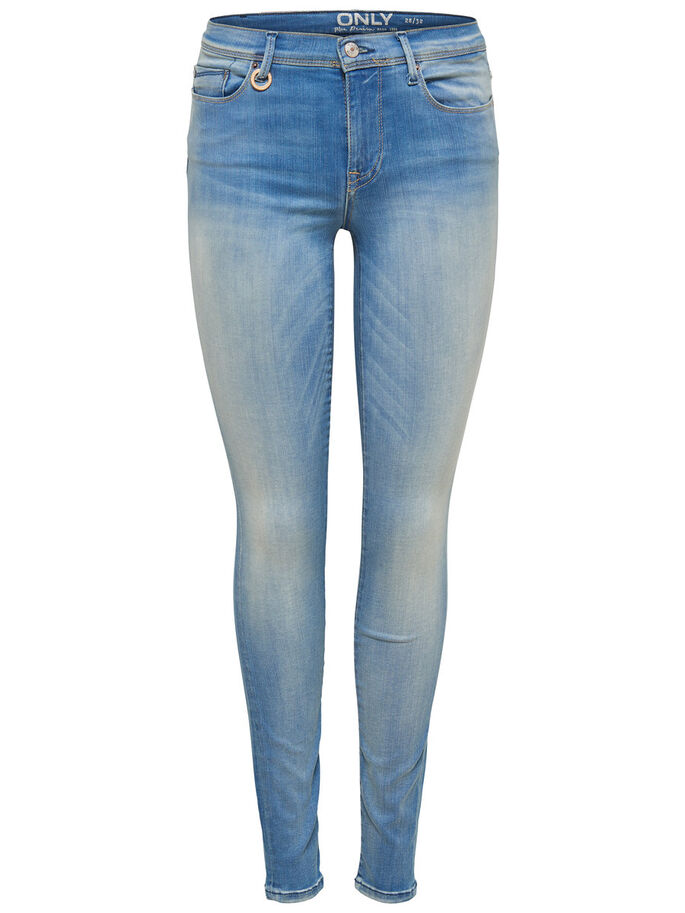 SHAPE REG SKINNY JEANS, Light Blue Denim, large