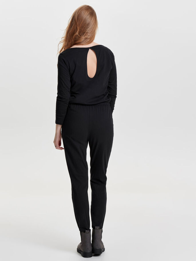 LONG SLEEVED JUMPSUIT, Black, large
