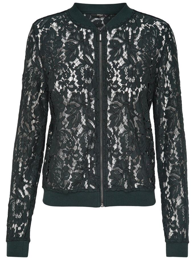 LACE BOMBER JACKET, Jet Set, large