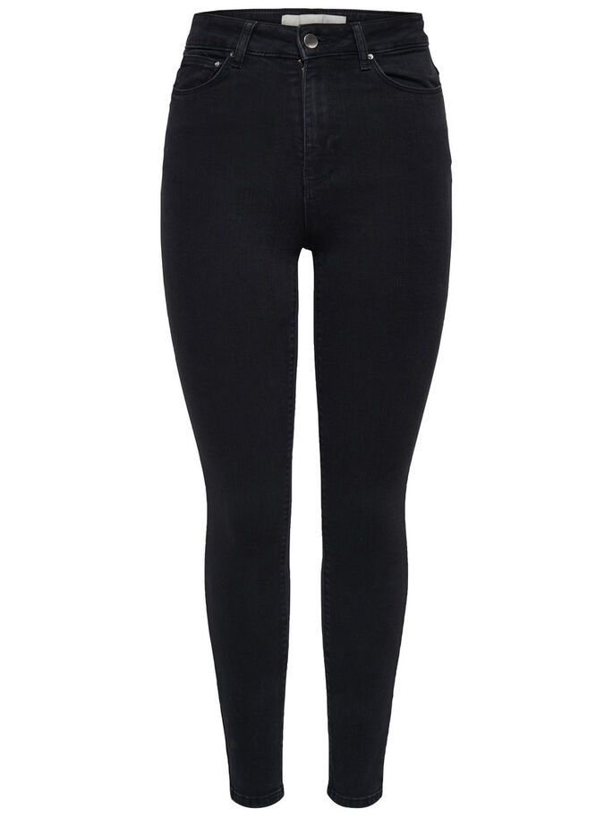STUDIO1 HW SKINNY FIT JEANS, Black Denim, large