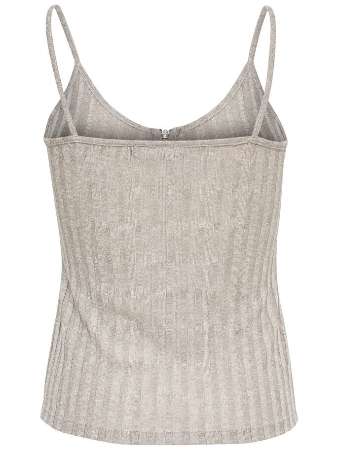 RITS MOUWLOZE TOP, Light Grey Melange, large