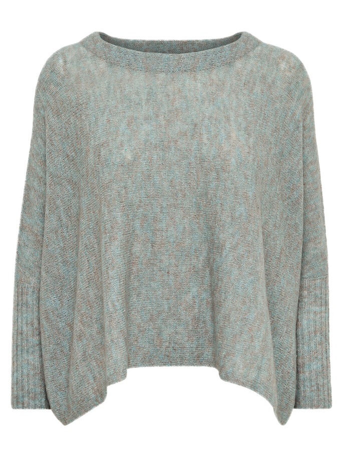 OVERSIZED KNITTED PULLOVER, Balsam Green, large