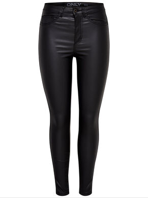 ROYAL HIGH WAIST ANKLE COATED SKINNY FIT JEANS