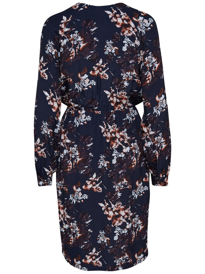 PRINTED LONG SLEEVED DRESS, Deep Well, large