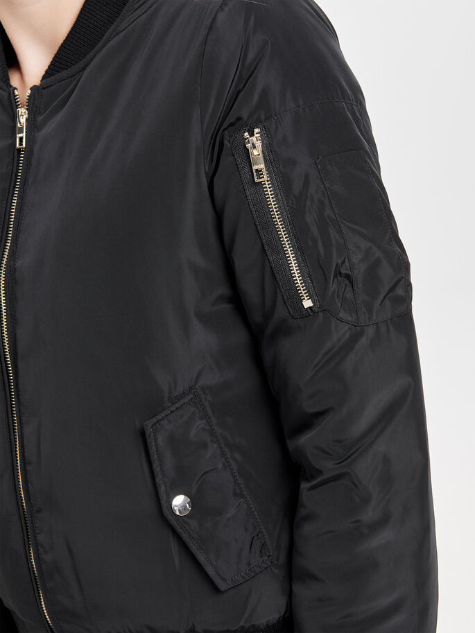 BOMBER JACKET, Black, large