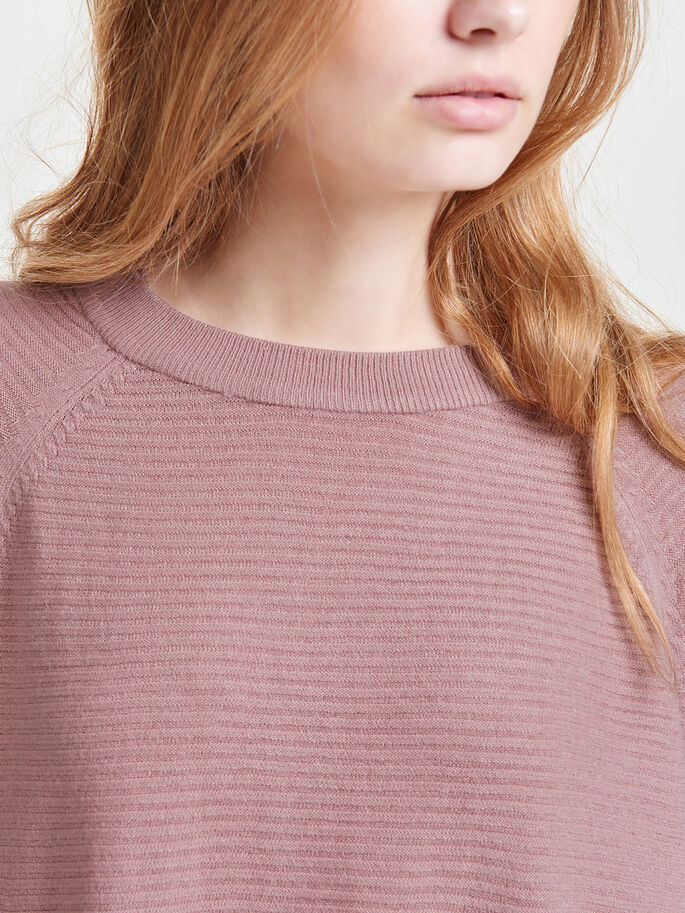 LOOSE KNITTED PULLOVER, Woodrose, large