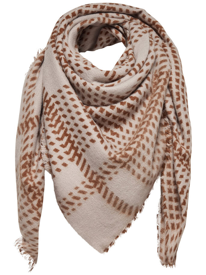DETAILED SCARF, Simply Taupe, large