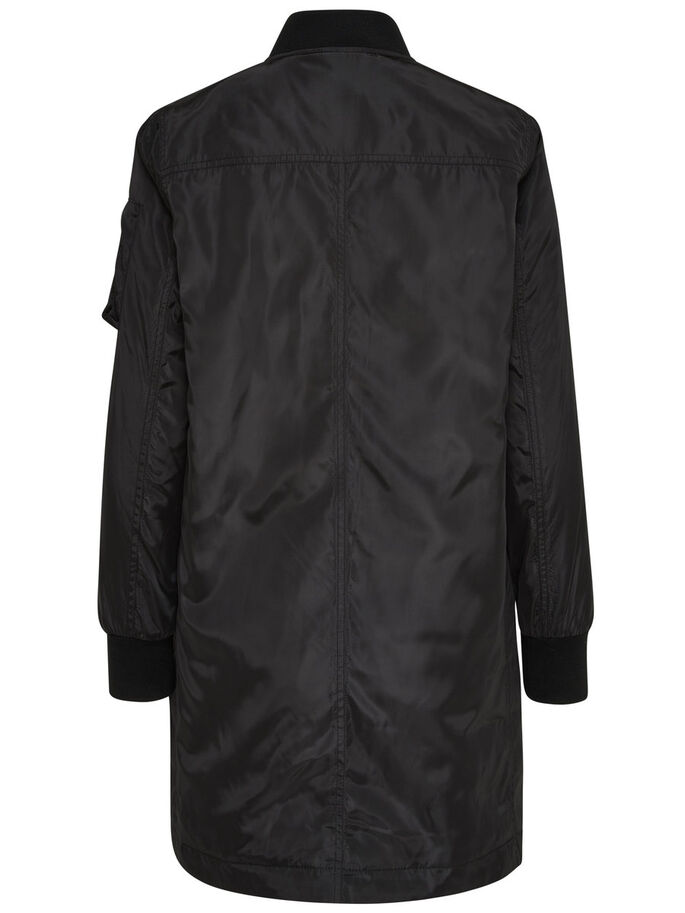 NYLON-BOMBER- MANTEL, Black, large