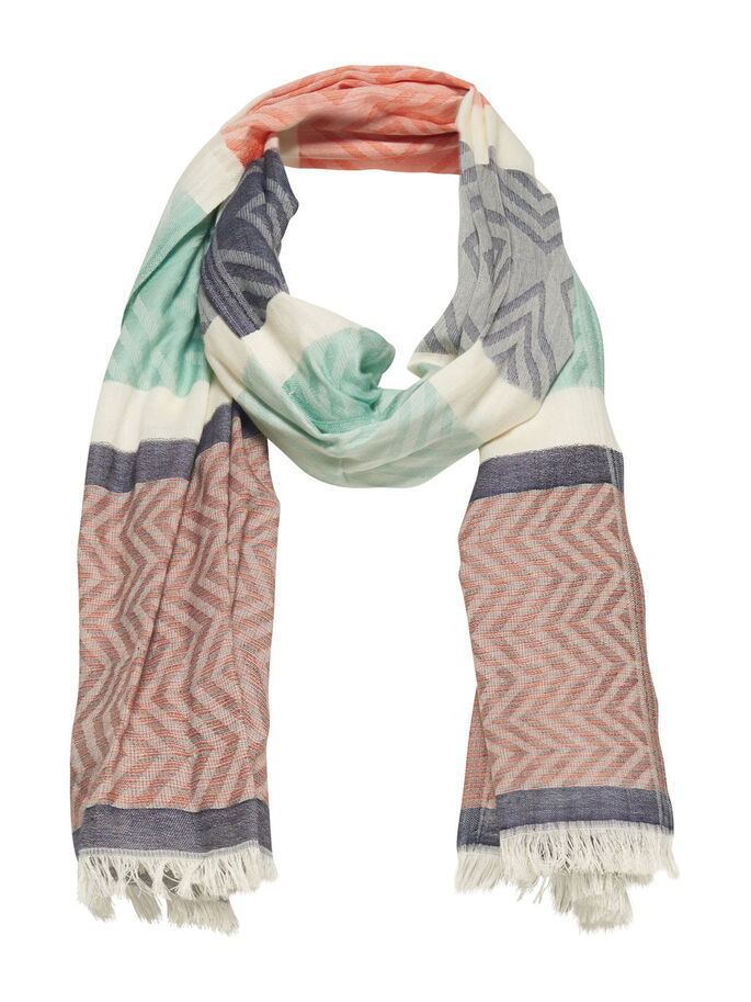 PRINTED SCARF, Cloud Dancer, large