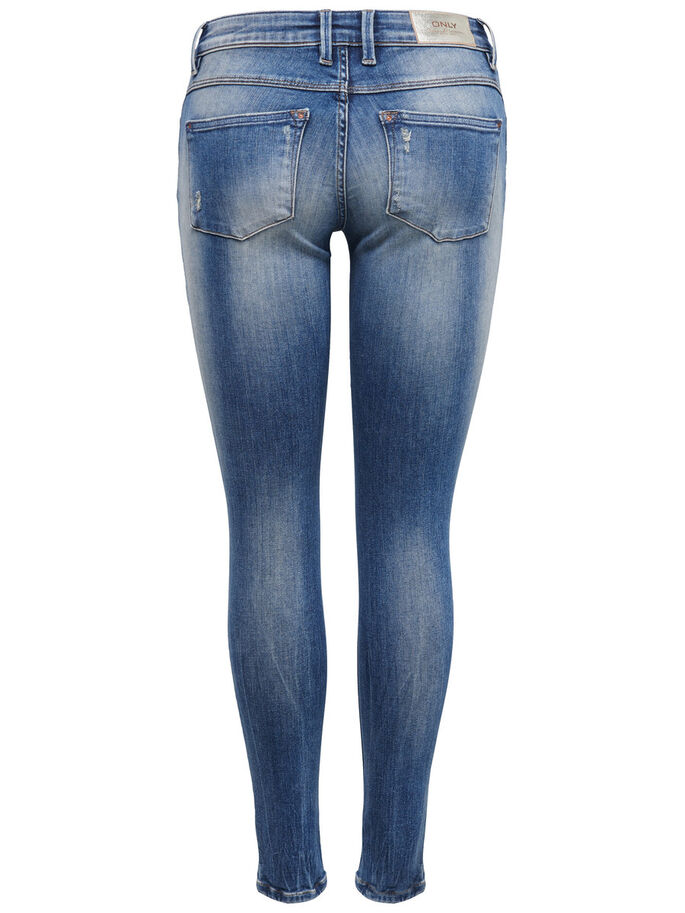 CARRIE TAILLE BASSE JEAN SKINNY, Light Blue Denim, large