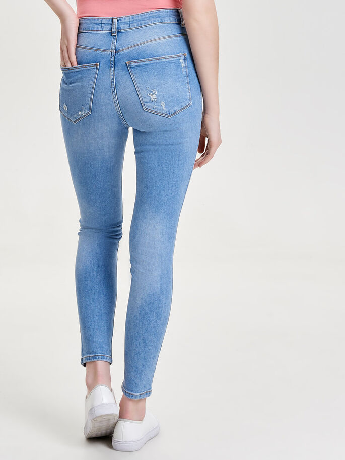 STUDIO HIGH WAIST ANKLE SKINNY FIT JEANS, Light Blue Denim, large