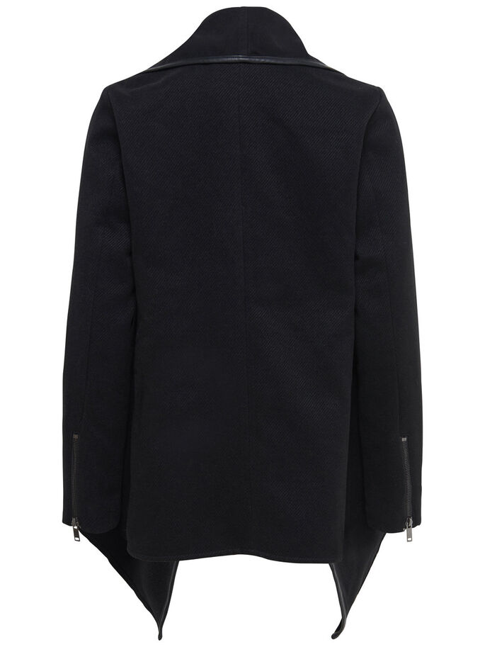 OVERSIZED DRAPY COAT, Black, large