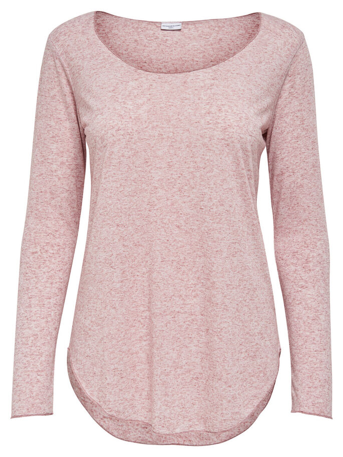 DETAILED LONG SLEEVED TOP, Woodrose, large