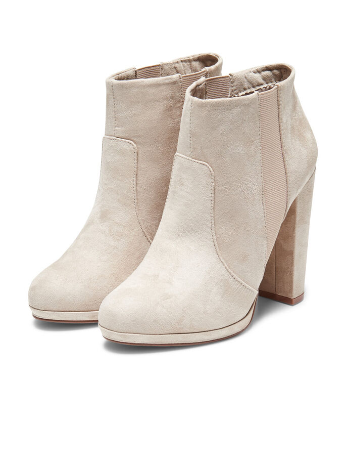 HIGH HEELED BOOTS, Beige, large