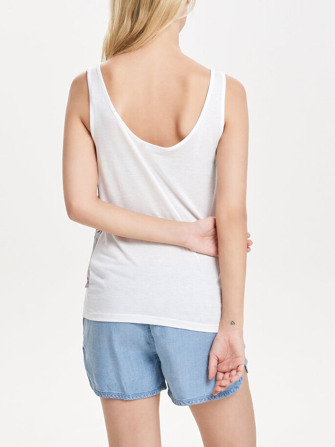 MIXED SLEEVELESS TOP, Cloud Dancer_, large