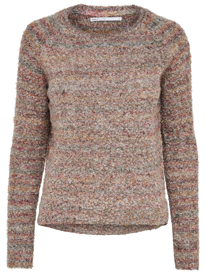 EINFARBIGER STRICKPULLOVER, Falcon, large