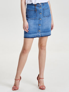 DETAILED DENIM SKIRT