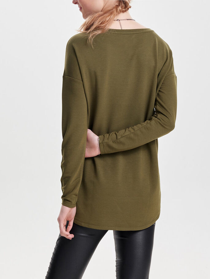 DETALJERET SWEATSHIRT, Military Olive, large