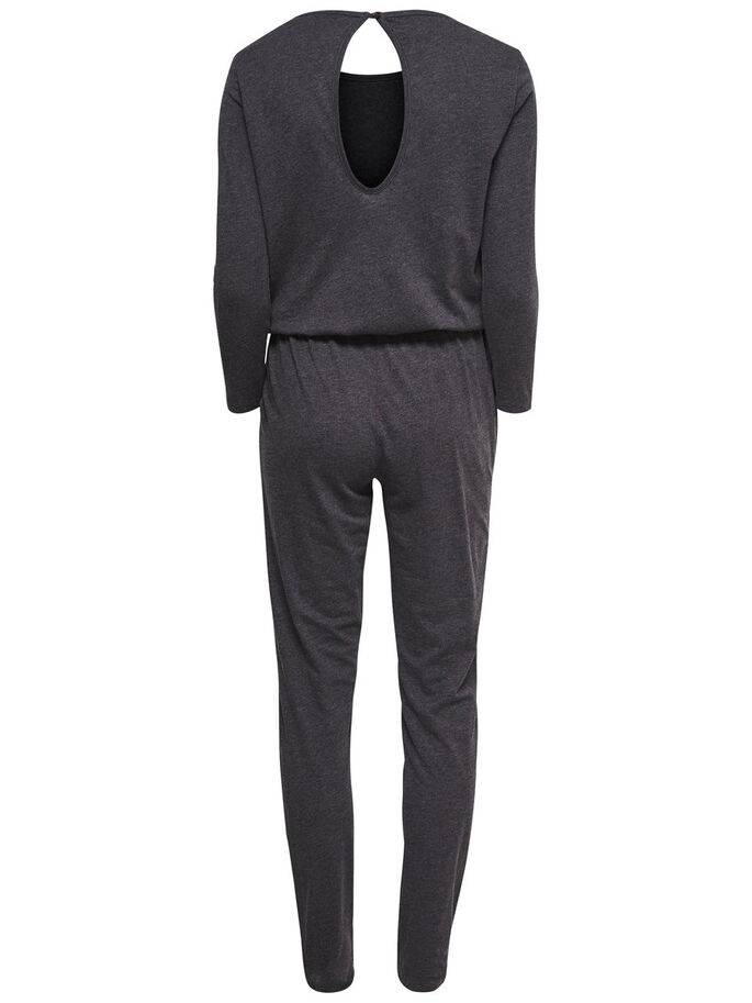 LÅNGÄRMAD JUMPSUIT, Dark Grey Melange, large