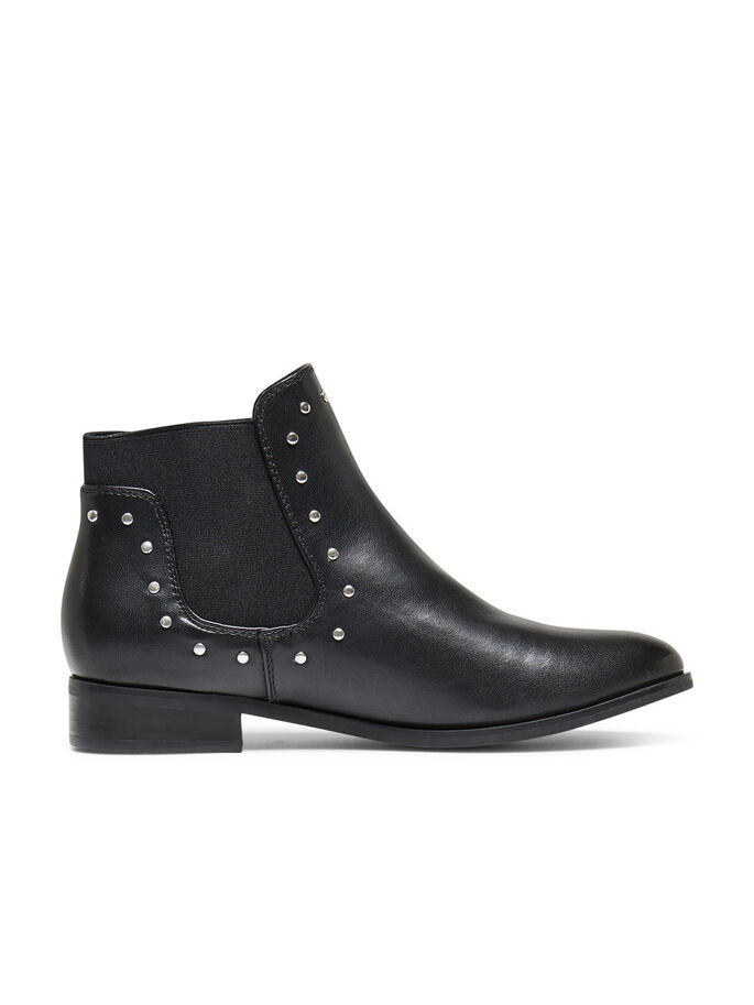 STUD DETAILED BOOTS, Black, large