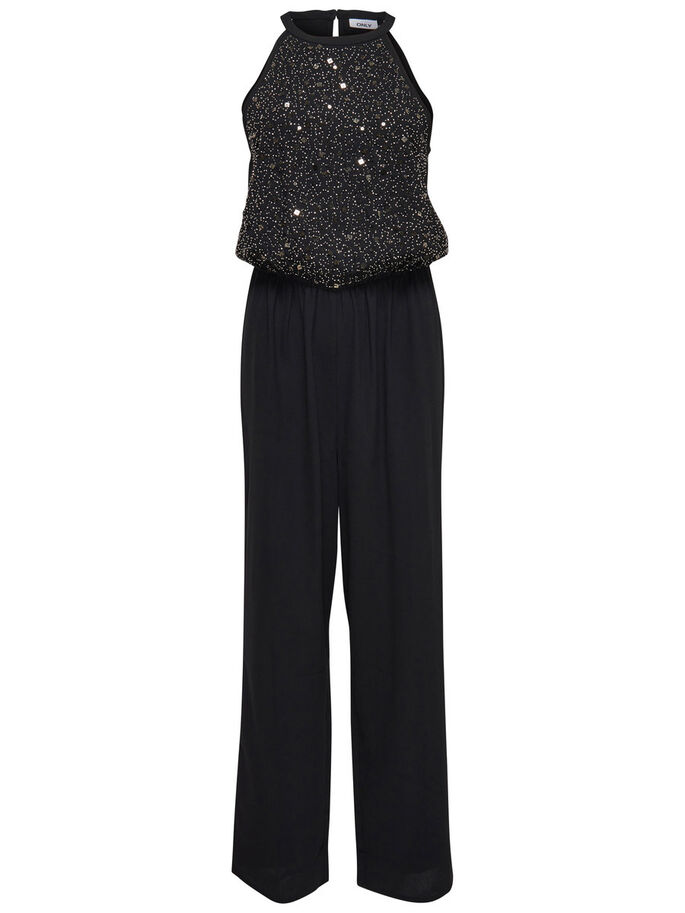 SEQUINS JUMPSUIT, Black, large