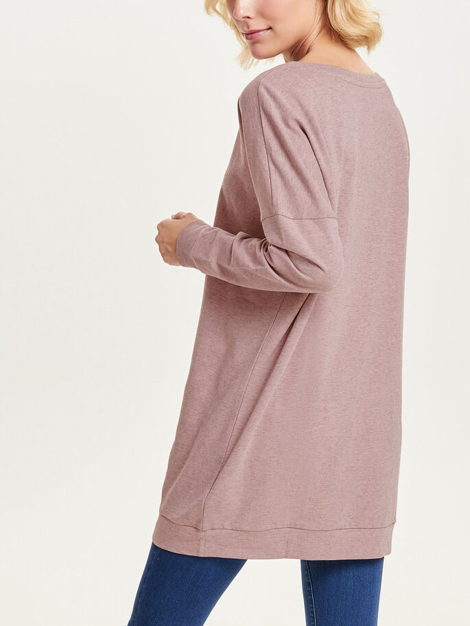 OVERSIZED SWEATSHIRT, Woodrose, large