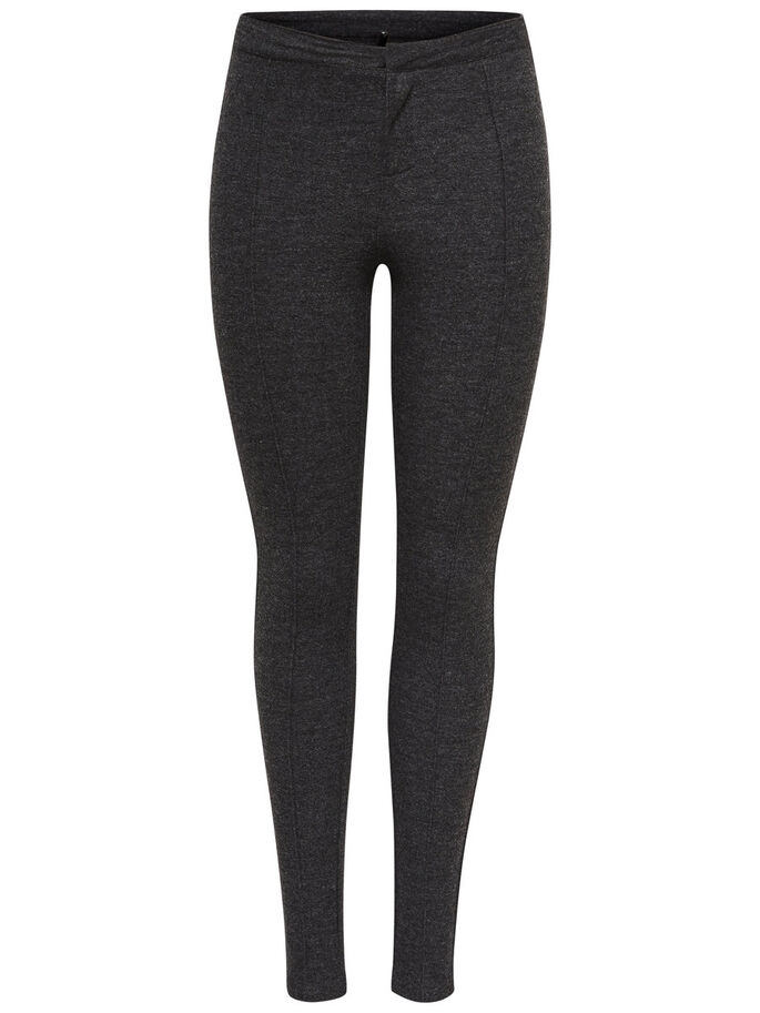 DETAILREICHE LEGGINGS, Dark Grey Melange, large